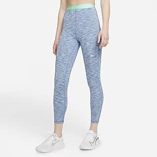 Nike Pro Leggings de entrenamiento cortos de cintura alta y teñido Space-Dye para mujer