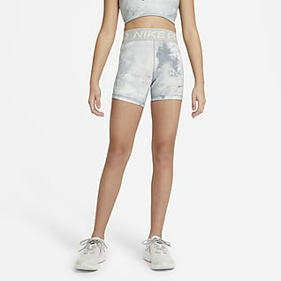 Nike Pro Batikfarvede shorts (7,75 cm) til større børn (piger)