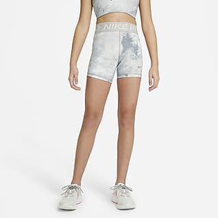 Nike Pro Shorts (7,5 cm) med batikk til store barn (jente)