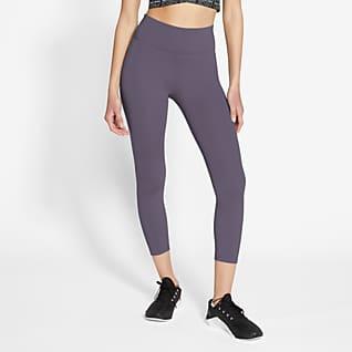 Nike One เลกกิ้งผู้หญิง 3 ส่วนเอวปานกลาง