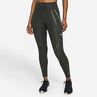 Nike Epic Faster 7/8-Lauf-Tights mit Besatz und mittelhohem Bund für Damen