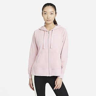 Nike Dri-FIT Get Fit Sudadera con capucha de entrenamiento de cierre completo para mujer