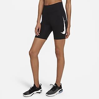 Nike Swoosh Run 18 cm Kadın Koşu Taytı