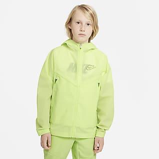 Nike Sportswear Windrunner Zero Jakke med hette til store barn