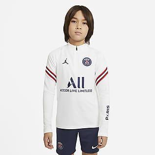 Paris Saint-Germain Strike Home Fodboldtræningsoverdel til større børn