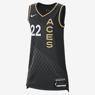 A'ja Wilson Aces Rebel Edition Camiseta Nike Dri-FIT WNBA Victory para mujer
