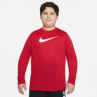 Nike Dri-FIT Big Kids' (Boys') Long-Sleeve T-Shirt (Extended Size)