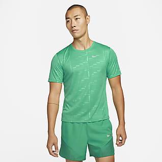 Nike Dri-FIT UV Run Division Miler Men's Embossed Short-Sleeve Running Top