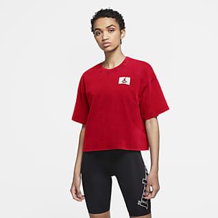 Jordan Essentials Kortärmad t-shirt med kantig passform för kvinnor