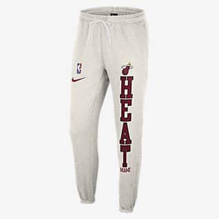 Miami Heat Courtside Pantalones Nike NBA de tejido Fleece para hombre