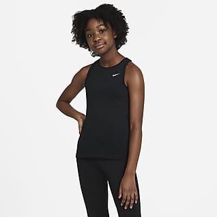 Nike Pro Koszulka bez rękawów dla dużych dzieci (dziewcząt)
