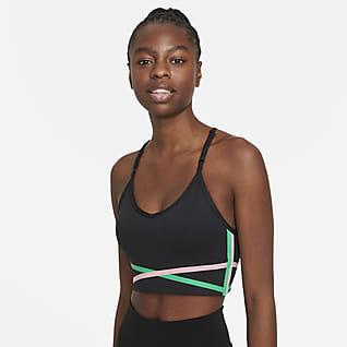 Nike Dri-FIT Indy Brassière de sport longue rembourrée à maintien léger pour Femme