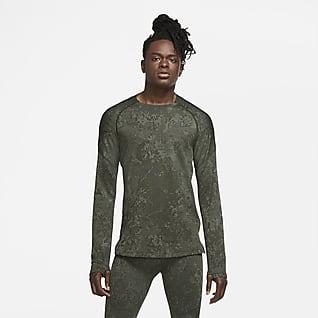 Nike Мужская футболка с длинным рукавом для тренинга
