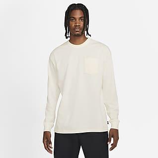 Nike Sportswear Premium Essentials T-shirt med lange ærmer og lomme til mænd