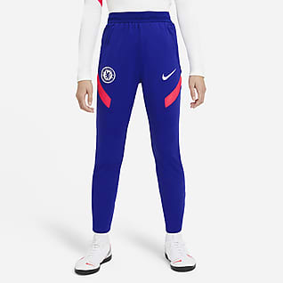 Chelsea F.C. Strike Older Kids' Knit Football Pants