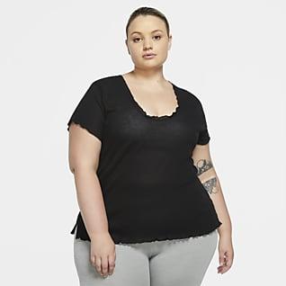 Nike Yoga Женская футболка с коротким рукавом (большие размеры)
