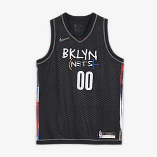 Kyrie Irving Nets City Edition Camiseta Nike NBA Swingman - Niño/a