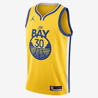 Stephen Curry Warriors Statement Edition 2020 Maillot Jordan NBA Swingman