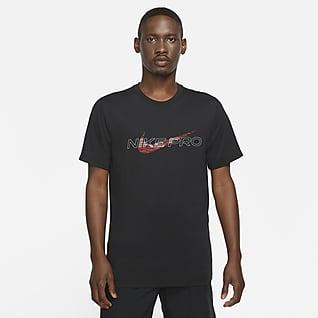 Nike Pro Dri-FIT T-skjorte med trykk til herre
