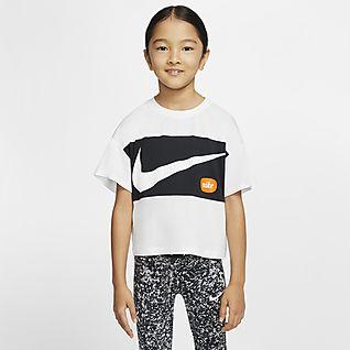 Nike Camisola de manga curta recortada para criança