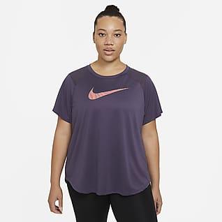 Nike Run Icon Clash Kortermet løpeoverdel til dame (store størrelser)