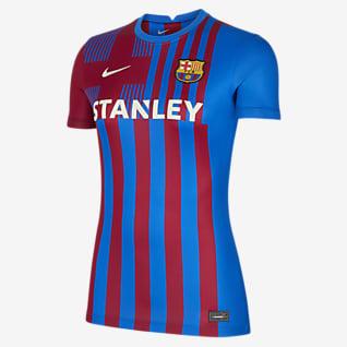 FC Barcelona 2021/22 Stadium Home Damen-Fußballtrikot