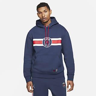 Paris Saint-Germain Hoodie pullover de lã cardada para homem