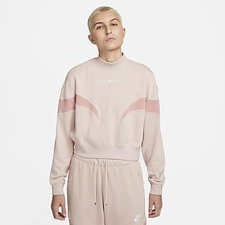 Nike Air Camiseta de cuello alto de tejido Fleece para mujer