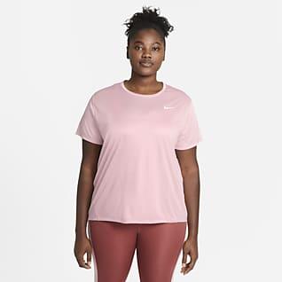 Nike Miler Prenda para la parte superior de running de manga corta para mujer (talla grande)