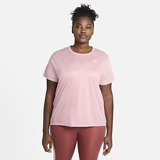 Nike Miler Top da running a manica corta - Donna (Plus size)