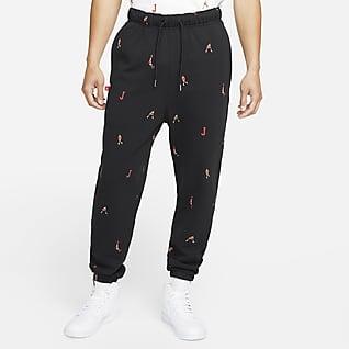 Jordan Essentials Pantalones estampados de tejido Fleece para hombre
