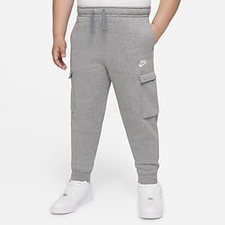 Nike Sportswear Club Pantalones cargo para niños talla grande (talla extendida)