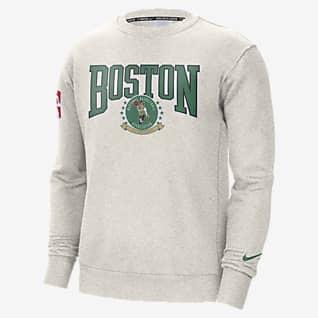 Boston Celtics Courtside Nike NBA-fleeceshirt met ronde hals voor heren