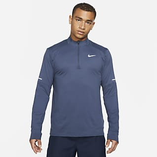 Nike Dri-FIT Мужская беговая футболка с молнией на половину длины