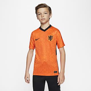 Netherlands 2020 Stadium Home Maillot de football pour Enfant plus âgé