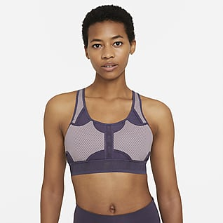 Nike Swoosh UltraBreathe Sports-bh med medium støtte og indlæg til kvinder