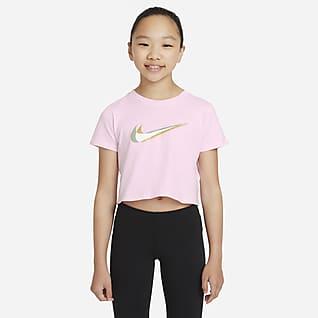 Nike Sportswear Cropped Dance-T-shirt til større børn (piger)