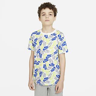 Nike Sportswear Футболка с принтом для мальчиков школьного возраста