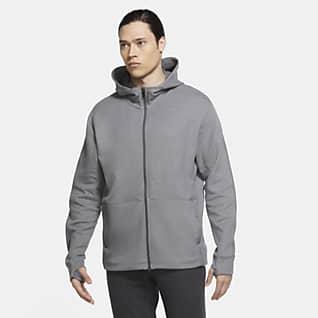 Nike Yoga Pánská mikina s kapucí a zipem po celé délce