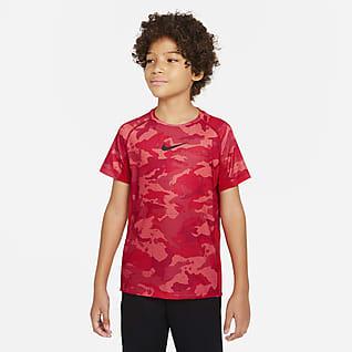 Nike Dri-FIT Parte superior de entrenamiento estampada para niños talla grande