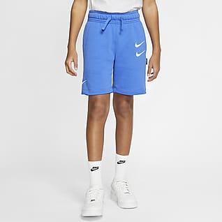 Nike Sportswear Kraťasy z francouzského froté pro větší děti (chlapce)