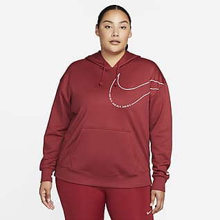 Nike Therma-FIT Women's Fleece Pullover Graphic Training Hoodie (Plus Size)