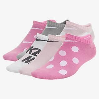 Nike Everyday Calcetines invisibles ligeros estampados para niños talla grande (6 pares)