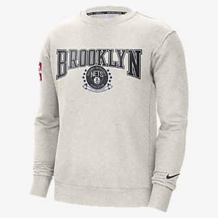 布鲁克林篮网队 Courtside Nike NBA 男子起绒圆领运动衫