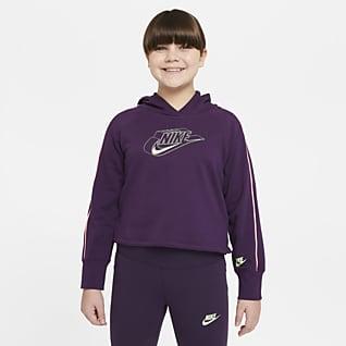Nike Sportswear Sudadera con capucha con gráfico para niñas talla grande (talla extendida)
