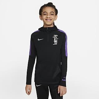 Nike Dri-FIT Kylian Mbappé Sudadera con capucha de fútbol para niño talla grande