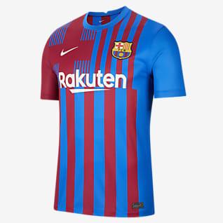 FC Barcelona 2021/22 Stadium Home เสื้อแข่งฟุตบอลผู้ชาย