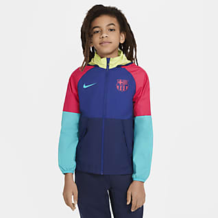 FC Barcelona AWF Big Kids' Soccer Jacket
