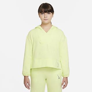 Nike Yoga Big Kids' (Girls') Fleece Full-Zip Training Top (Extended Size)