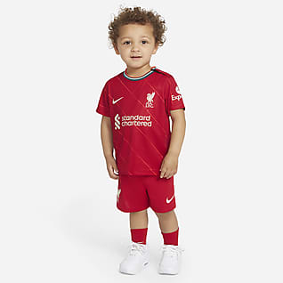 Liverpool FC 2021/22 Equipamento de futebol principal para bebé